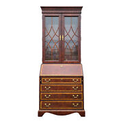 Thomasville Mahogany Collection Chippendale Secretary Desk With Bookcase Top