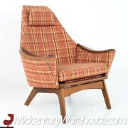 Adrian Pearsall For Craft Associates 1808-c Highback Walnut Lounge Chair - Mcm