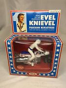 Evel Knievel Super Jet Cycle Precision Miniature 1976 Ideal Nib Unpunched Vtg
