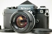 【n Mint】 Nikon F2 Eye Level Black De-1 Finder W/ New Nikkor 50mm F1.4 From Japan