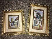 E. Rojo Hand Painted Tiles Venezuela 1993 Signed And Dated