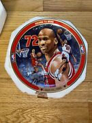 Michael Jordan Record 72 Wins Bradford Exchange/upper Deck Collectible Plate