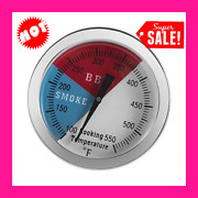 3 Stainless Steel Temperature Gauge 550f Bbq Charcoal Grill Wood Pit