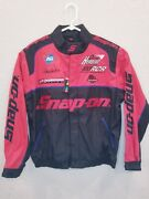 New Snap-on Tools Racing Red And Black Zip Up Jacket Size M - New With Tags