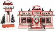 Department 56 Snow Village - Scooterand039s Diner Set Of 2 6007793