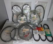 11 Scooter Belts Lot - Nos - Gates, Pgo, Mogo, Ect - 10 New 1 Used Free Shipping