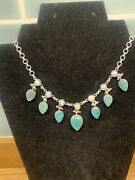 925 Silver Emerald And Pearl Necklace