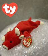 Ty Beanie Baby Snort Bull 1995 Retired Style 4002 With Tag Errors