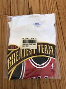 New Vintage Starter Chicago Bulls 1996 Greatest Team Ever Championship T-shirt L