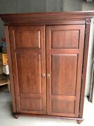 Ethan Allen British Classics Home Office Armoire Computer Pull Out Desk Powered