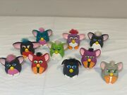 Vintage Lot Of 10 Furby Mcdonalds Happy Meal Kids Toys Plastic He Squeaks
