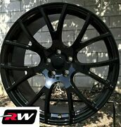 20 X9 Fits Dodge Challenger Hellcat Style Aftermarket Wheels Gloss Black Rims