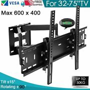 Full Motion Articulating Tv Wall Mount Led Lcd Plasma 32 37 39 42 46 48 50 55 75