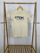 Vtg 80s Tdk Quality Recording Tape Cassette Promo Ched Super Thin T-shirt M