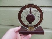 Rare Vintage Setchell Carlson Unit-ized Table Top Television Thermometer Sign