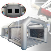 Inflatable Spray Booth Paint Tent Car Painting House 2 Filter System W/ Window