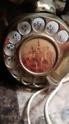 Rare 1950s Vintage Brass Elephant Rotary Phone With Ivory Resin Receiver