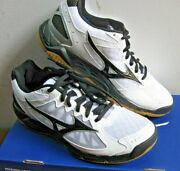 Mizuno Womenand039s Wave Supersonic Indoor Athletic Shoe White And Black New