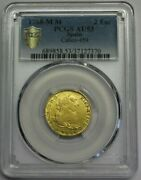 1788 Madrid 2 Escudos Pcgs Au53 Charles Iii Spanish Gold Spain Coin Colonial