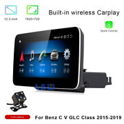 For Mercedes Benz C Glc V R Class 2015+ 12.3 Touch Screen Car Gps Stereo Player