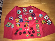 Vintage 1960and039s Cub/boy Scout Lot Vest W/patches Cherokee Kentucky. Nice