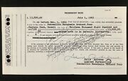 Julie Andrews Signed Promissory Note Macadamia Orchard Sound Of Music Psa/dna