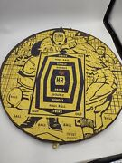 Vintage Marksman Double Sided Dart Board Baseball Theme Made In England