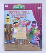Nice Vintage Whitman Sesame Street Paper Doll Players Paper Doll Book Unused Nos