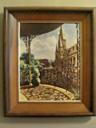 Vintage Original C Bennett Moore Hand Painted Photo Of St Louis Cathedral