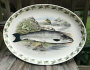 Htf Portmeirion Compleat Angler 11 X 14 3/4 Salmon Oval Serving Platter Unused