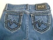 Miss Me Denim Women's Embellished Stretch Low Rise Sunny Boot Cut Blue Jeans 27