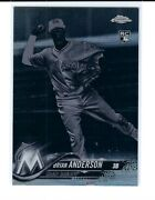 Brian Anderson 2018 Topps Chrome 22 Black And White Negative Refractor Rc Marlins