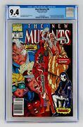 New Mutants 98 Cgc 9.4 White Pages Mark Jewelers Newsstand First Deadpool Nm