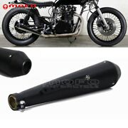 18'' Shorty Exhaust Muffler Pipe Black For 35mm / 38mm / 41mm 1 5/8 Motorcycle