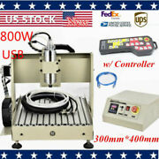Usb 3040 4axis Cnc Router 800w Wood Milling Cutting Machine+remote Controller