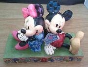 Disney Traditions Enesco Jim Shore Mickey And Minnie Mouse Bookends