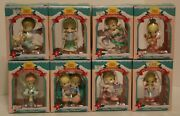 Precious Moments Christmas Ornaments Lot Of 8-- 1995 Home For The Holidays