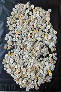 Vintage Buttons Lot White Antique Primitive Sewing Fabric Collection Display