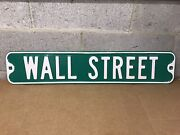 Rare Vintage Wall Street St Sign New York City Nyc Steel Road Sign Nice