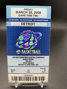 Steph Curry 2008 Ncaa Ticket W/ Lebron James Courtside As Davidson Invited Guest