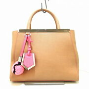 Fendi Tote Bag Women And039s Petit Toujour 8bh253 Beige Pink Razor Secondhand _37796
