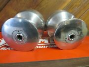 Pair Of Huge Barlow 24-76 Stainless Steel Sailboat 2 Speed Winches W/hardware