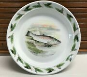 Unused Portmeirion Compleat Angler Great Lake Trout 8 1/2 Salad Plate 2 Avail