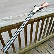Denix Old West Lever Action Repeating Rifle Replica Brass Frame Wood Stock 43