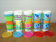 Tupperware 16 Oz. Mickey Mouse And Pokemon Tumblers/containers W/seals Set5new