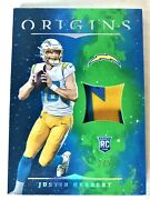 Panini Origins Justin Herbert Rc Rookie Of The Year Rare 3/5 Chargers Bolt Patch