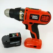 Black And Decker Ss12 12v Smart Select Technology Drill Driver And Battery 12 Volt