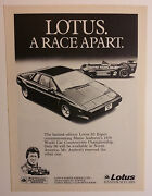 1979 Lotus S2 Esprit Limited Edition Ad - Must See