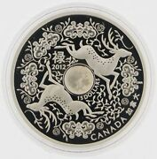 2012 15 Fine Silver '12 Hologram Coin Maple Good Fortune Mintage 8888 Canadian
