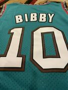 Mike Bibby Vancouver Grizzlies Teal Green 10 Mens Throwback Basketball Jersey